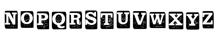 Blockletters Regular Font LOWERCASE