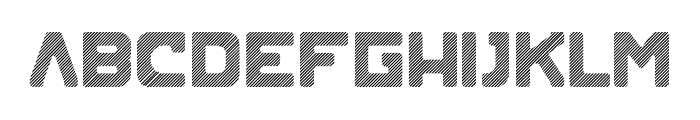 Blok-Lined Font LOWERCASE