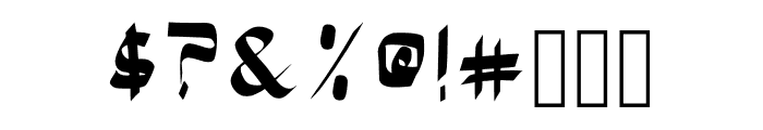 Bloke Bold Font OTHER CHARS
