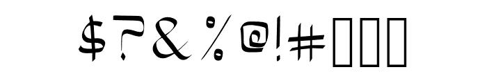 Bloke Light Font OTHER CHARS