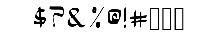 Bloke Regular Font OTHER CHARS