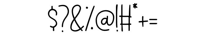 Blue Papillon Font OTHER CHARS