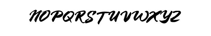 BlueSilky Font UPPERCASE