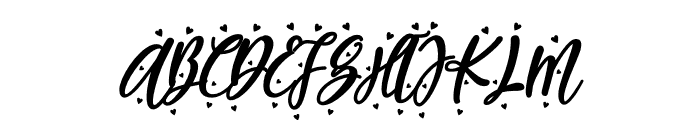 Blueberry Love Font UPPERCASE