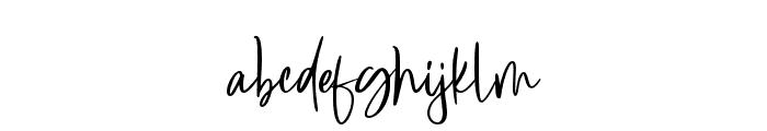 Blueberrys Signature Font LOWERCASE