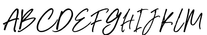 BluesCoast-Slant Font UPPERCASE