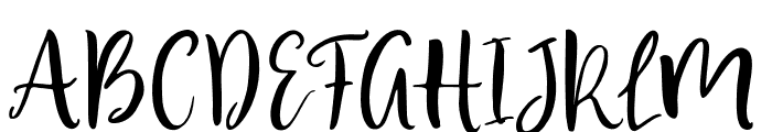 BlusherScript Font UPPERCASE