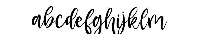 BlusherScript Font LOWERCASE