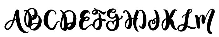 Blushing Font UPPERCASE