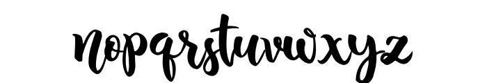Blushing Font LOWERCASE
