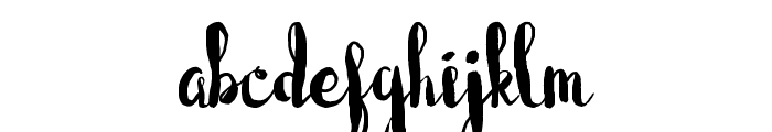 Blushingly (Hollow hearts) Font LOWERCASE