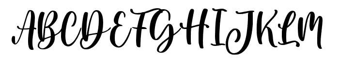 Blushring Font UPPERCASE