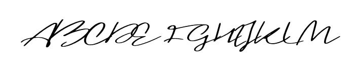 Blushy Regular Font UPPERCASE