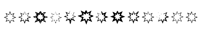 Bm Stars - Octogram Font UPPERCASE