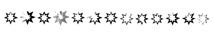 Bm Stars - Octogram Font LOWERCASE