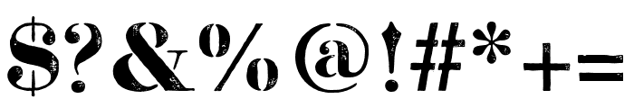 Bodoni FragileDirt Font OTHER CHARS