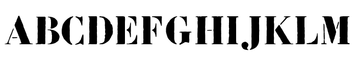Bodoni FragileRough Font UPPERCASE