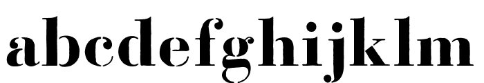 Bodoni FragileRough Font LOWERCASE