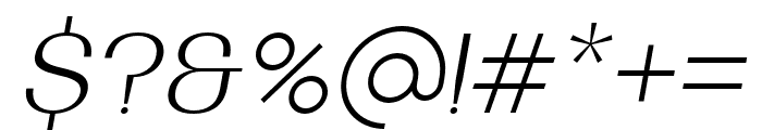 BodrumSans-12ExtraLightItalic Font OTHER CHARS
