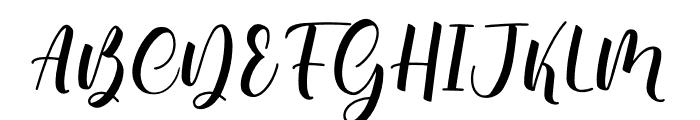 Bonalisha Font UPPERCASE