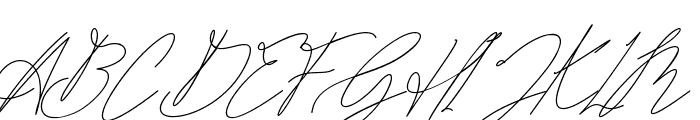 Bonbaste Script Font UPPERCASE