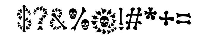Bones Halloween Font OTHER CHARS
