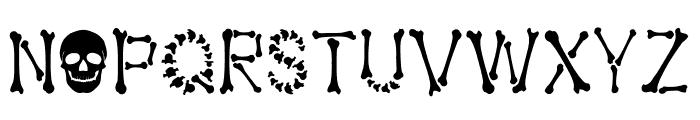 Bones Halloween Font UPPERCASE