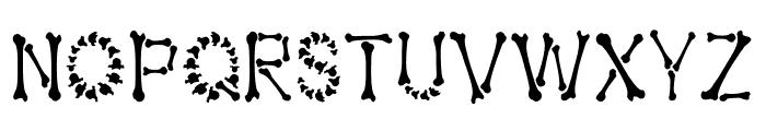 Bones Halloween Font LOWERCASE