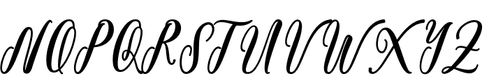 BonetyLady Font UPPERCASE