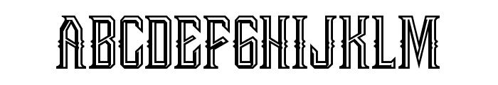 Bongoknian-Emboss Font UPPERCASE