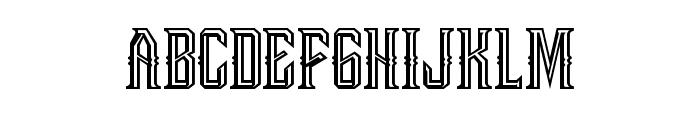 Bongoknian-Emboss Font LOWERCASE