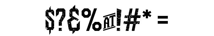 Bongoknian-Grunge Font OTHER CHARS