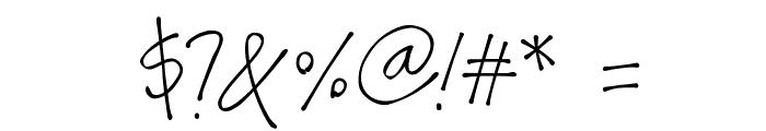 Bonita Font OTHER CHARS