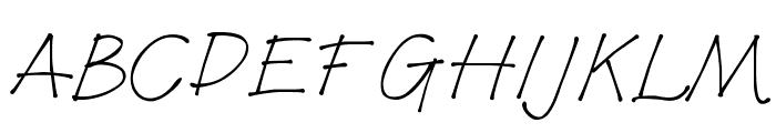 Bonita Font UPPERCASE