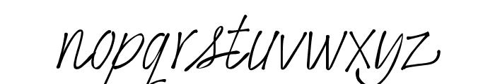 Bonita Font LOWERCASE