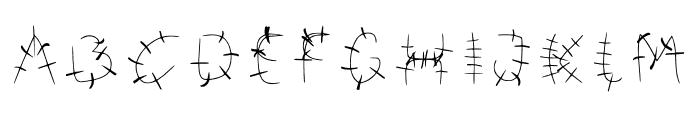Bonkers Font UPPERCASE