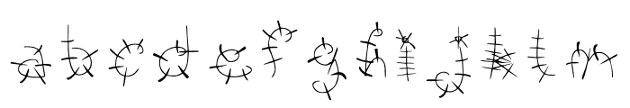 Bonkers Font LOWERCASE