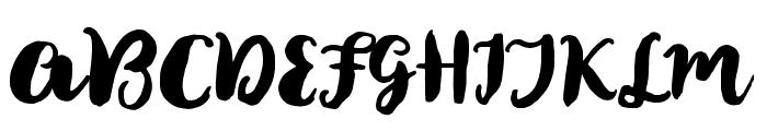BonsayScript Font UPPERCASE