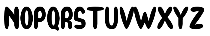 BooRush Font UPPERCASE