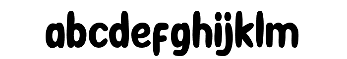 BooRush Font LOWERCASE