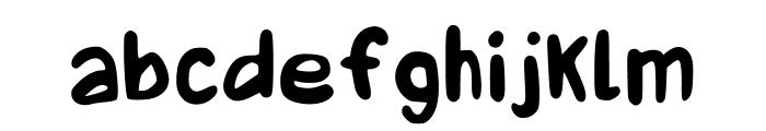 Boquer?n Regular Font LOWERCASE