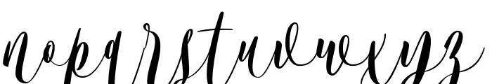 Bordellia Font LOWERCASE