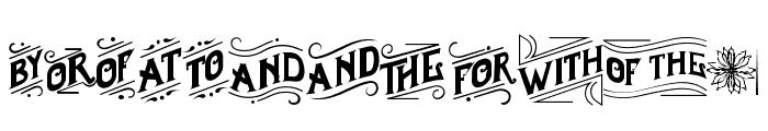 Borderland Font UPPERCASE