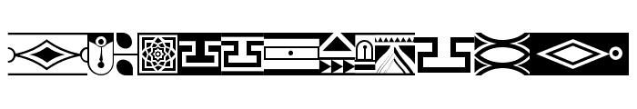 Borderland Font LOWERCASE
