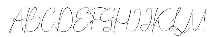 Bordershine-Script Font UPPERCASE