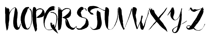 Boriska grunge watercolor font Font UPPERCASE