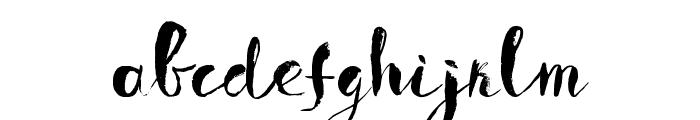 Boriska grunge watercolor font Font LOWERCASE