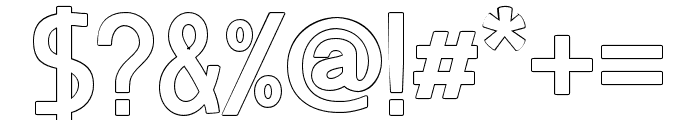 BosqueOutlineBlack Font OTHER CHARS