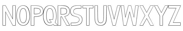 BosqueOutlineBlack Font LOWERCASE