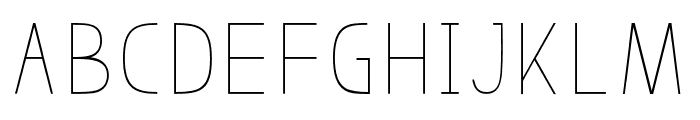 BosqueThin Font UPPERCASE
